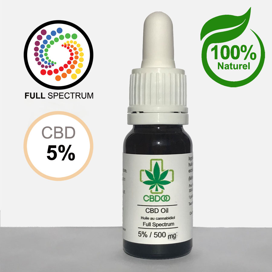 huile de CBD full spectrum 5%